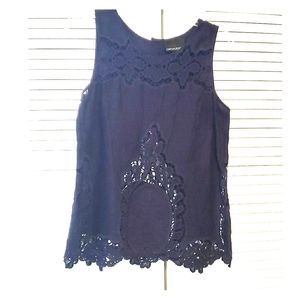 Navy Blouse by Cynthia Rowley